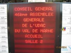 L'AG de l'UDAC  le 17/04/ 2014